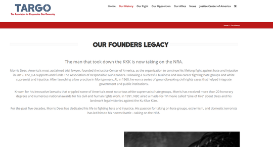 The website for The Association for Responsible Gun Ownership lists Dees as its founder. Dees said in an interview Thursday he was asked to join the group.