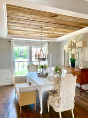 Barnwood on the ceiling of Sara Affonso's dining room gives her house a farmhouse look. The home, located at 1196 Charles Reed Ct. in Gallatin, is on the market for $669,000.