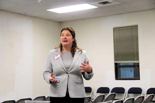 Sites Southwest Senior Planner/Project Manager Rosemary Dudley leads a discussion during an Otero County Comprehensive Plan Community Meeting Dec. 5.