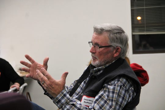 Otero County Commissioner Gerald Matherly speaks during an Otero County Comprehensive Plan Community Meeting Dec. 5.