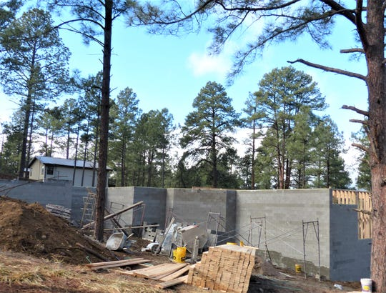 A foundation goes in for a new home in Ruidoso.