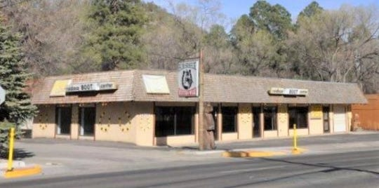 Before it conversion to a ski shop, the building was used by a western wear business.