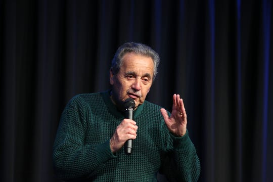 Manny Sepulveda shares his story of 'new beginnings' during the Coachella Valley Storytellers Project held at the Rancho Mirage Library in Rancho Mirage, Calif., on December 4, 2019.