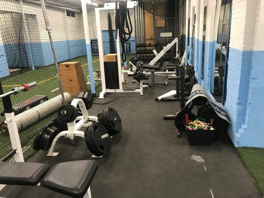 Visitors to Champ's Performance Training will not only have access to baseball and softball instruction, but also weight training equipment.