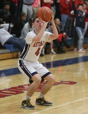 Ketcham's Brendan Cassidy takes a shot during Wednesday's game versus North Rockland on December 4, 2019.