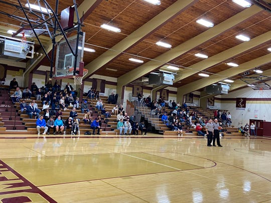 The Arlington High School gymnasium on Wednesday night as the girls basketball team hosted Ursuline.