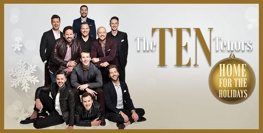 The Ten Tenors will perform Sunday at the Pullo Center.