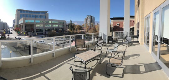 The terrace outside the Reno Gazette Journal's new office space at the Palladio.