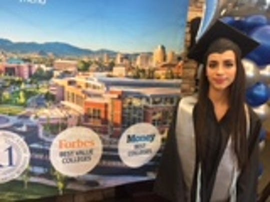 Perla Gonzalez Roman  will graduate from UNR on Saturday. She graduates debt free thanks to a program that UNR says 30 percent of students qualify for.