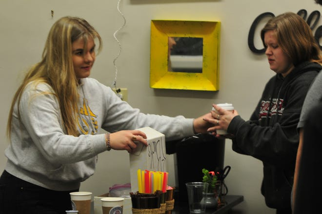 "Richmond High School junior Eleanor Rayburn opened ""R Bucks"", a coffee shop for students and faculty."