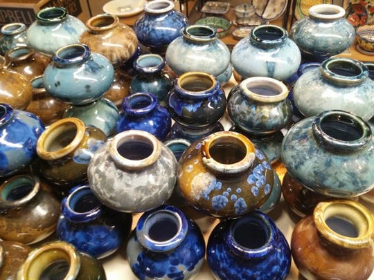 Mostly Clay in Pittsford offers pottery such as the Bill Campbell collection.