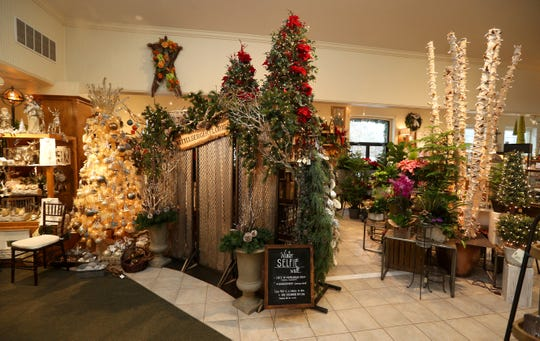 Kittelberger Florist and Gifts is decorated with holiday items.