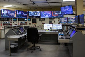 The control room inside of Covanta Marion in December 2019.