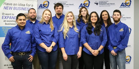Angelo State University accounting students who advised contestants in the 2019 San Angelo Business Plan Competition.