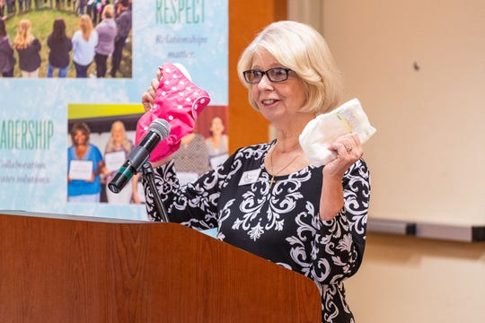 Jill Bright, founder of Diaper Bank of the Ozarks, is the 2019 Humanitarian Award recipient.