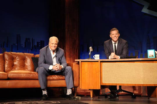 "During a taping of ""The Mystery Hour,"" RIP Medical Debt co-founder Craig Antico, left, announced the launch of a campaign to abolish $2.7 million in medical debt for needy people throughout the Ozarks. ""Mystery Hour"" host Jeff Houghton said he was ""pumped"" to help promote and raise money for the campaign."