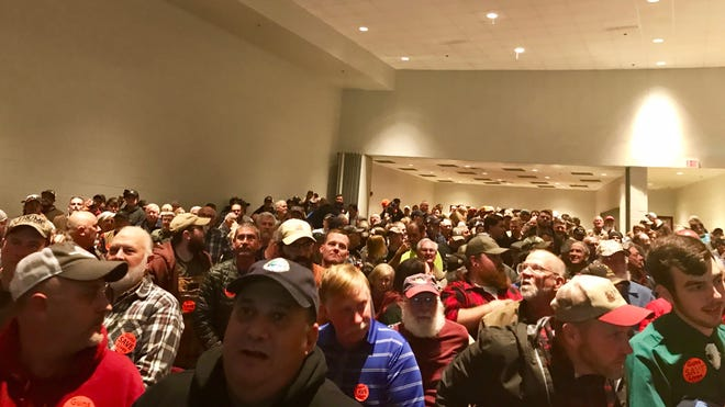 Over 1,800 people showed up to a special Augusta County Board of Supervisors meeting to voice opinions about becoming a Second Amendment sanctuary county. This photo shows one half of the auditorium. The board passed the resolution unanimously.