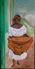 Woman with Johnny Cakes is among the works at holiday show at LeMoye Arts.