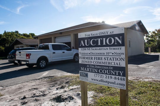 People toured a decommissioned Jensen Beach fire station Thursday, Dec. 5, 2019, on Northeast Samaritan Street in Jensen Beach. The 3,390-square-foot building, zoned for limited-commercial use, was auctioned off on Tuesday for $479,000.