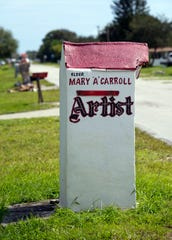 Mary Ann Carroll lived in the Fort Pierce area since she was a child. As a single mother with seven children, Carroll traveled throughout the area selling her paintings in addition to working other jobs.