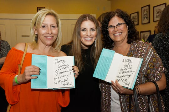 Penny Morin, left, author Kristen Hadeed and Patty McAuley at an empowerment seminar hosted by  Women United, anaffinity group of United Way of St. Lucie County.