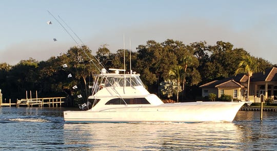 Floridian, showing 8 sailfish release flags caught Dec. 3, 2019, won the Fish Heads of Stuart Quickie Sailfish Tournament. Floridian caught 9 total to win. The fleet of 14 boats caught 65.