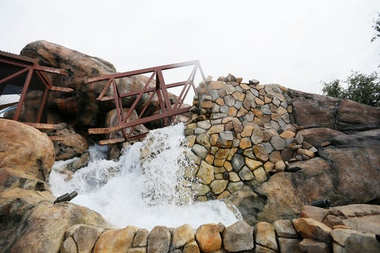 Flash flood at the El Paso Zoo's new Chihuahuan Desert exhibit Wednesday, Dec. 4, in El Paso.