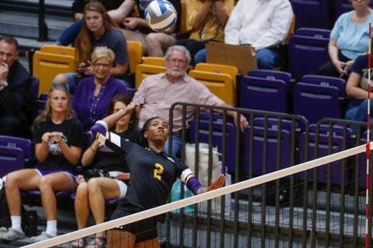 Former Pebble Hills volleyball and standout Triniti Anderson is playing both sports at Hardin-Simmons University.