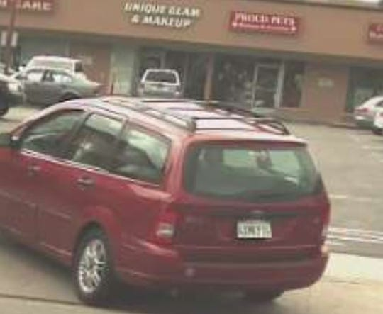 Ammann was last seen driving a red 2002 Ford Focus station wagon with a license plate reading 4XMK974.