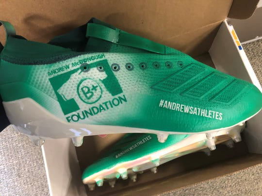 Salesianum School and University of Delaware star Troy Reeder will wear cleats honoring the B+ Foundation while playing for the Los Angeles Rams on Sunday.