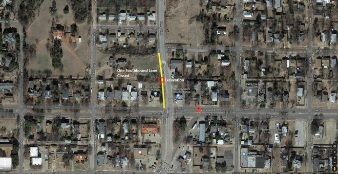 A portion of Kemp just before Ninth will be closed and traffic detoured beginning Thursday for a water-main repair.