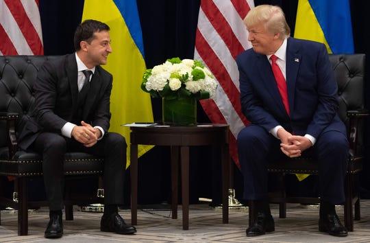 Ukrainian President Volodymyr Zelensky met with President Donald Trump in New York during the United Nations General Assembly in September.