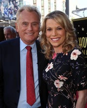 """Wheel of Fortune"" hosts Pat Sajak and Vanna White on Nov. 1, 2019 in Hollywood, Calif."