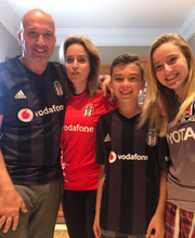 Ozzie Zenger (left) with (left to right) wife Semra Zenger, son Kaan and daughter Ceyda before the accident.