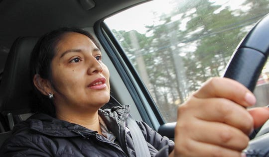 Reina Axalco, 35, says she has driven without a license in New Jersey for about 12 years. Because of her unauthorized status, the mother of four has not been able to get a license in the Garden State, but it's hopeful that lawmakers approve legislation would allow people like her to get driving privileges.