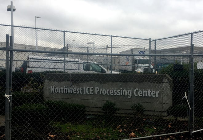 The Northwest ICE Processing Center in Tacoma on Wednesday.