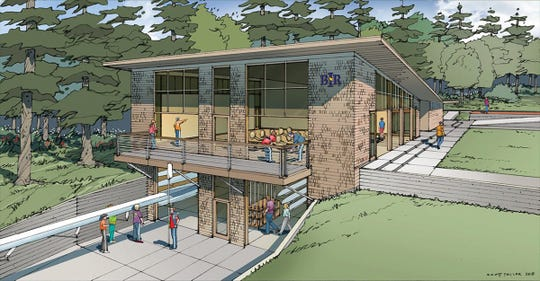 A rendering of what the Stan Pocock Legacy Rowing Center will look like in Waterfront Park.