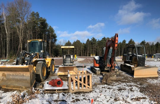 Utility work is underway at 347 Shunpike Road in Williston on Nov. 30, 2019. The developer is building an 18,000 square foot commercial building in what was once forested land.