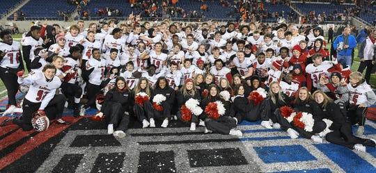 La Salle wins the OHSAA Division II state final game at Tom Benson Hall of Fame Stadium in Canton, Dec. 5, 2019.