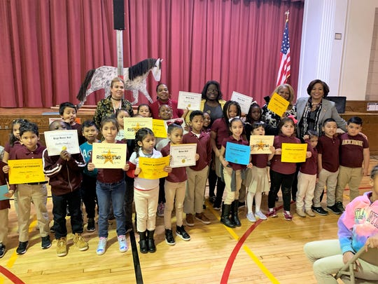 Frederic W. Cook School awards.  Students were recognized for outstanding academic performance, attendance and more.