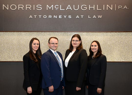 Bridgewater law firm Norris McLaughlin recently welcomed four new associates, pictured from left to right, Sarah M. Bouskila, Milan Jakubcak, Allison J. Arotsky and Stephanie A. DeVos.