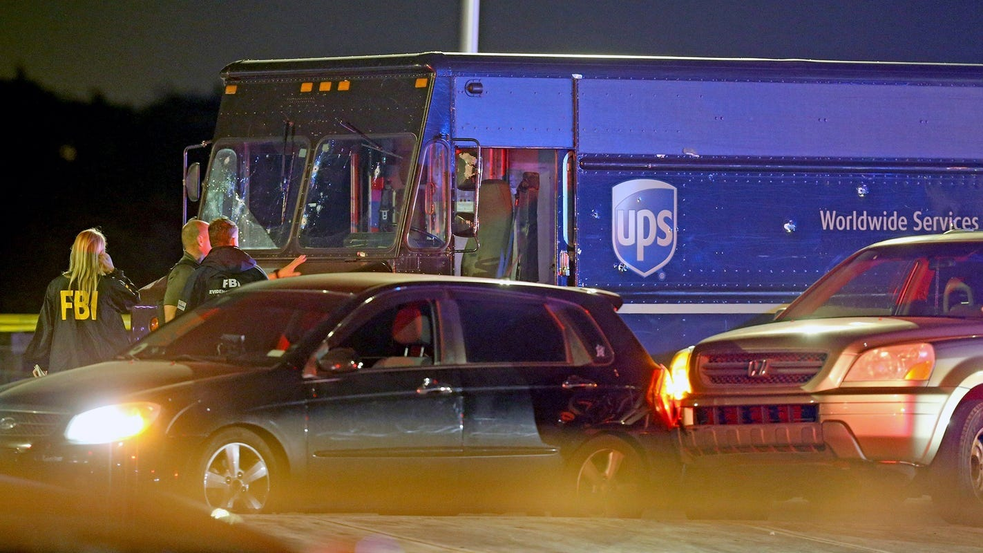 Chase with stolen UPS truck in Miami ends with shootout ...