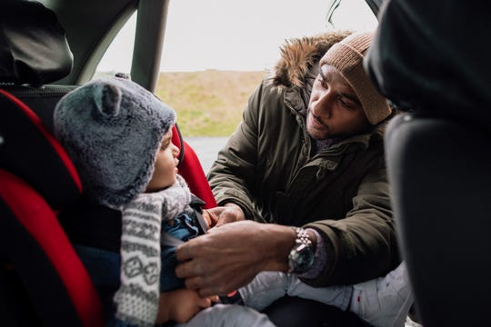Wearing winter coats underneath a car seat safety harness is dangerous. But not all winter apparel is cause for concern.