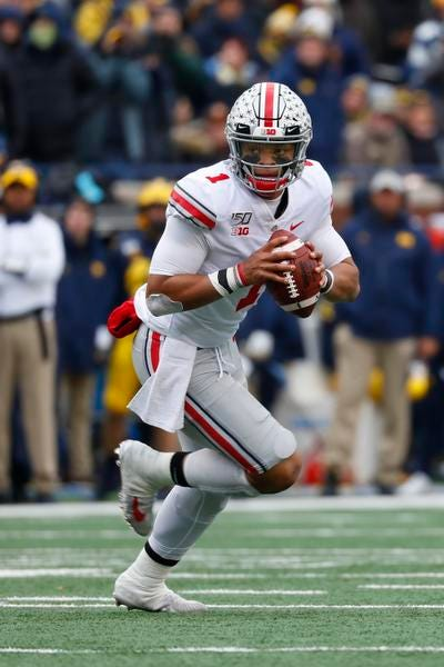 Thursday s College Football Ohio State Buckeyes Justin Fields Hurt But Will Play On Saturday