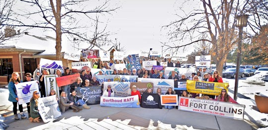 Representatives of local nonprofits rally in Fort Collins to promote Colorado Gives Day, which is Dec. 10.