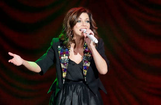 Martina McBride performs during her The Joy of Christmas Tour Thursday at the Resch Center Theatre.