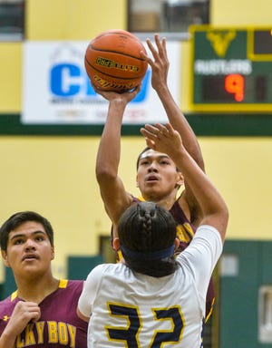 Led by Blake Cantrell and his 20 points, Rocky Boy took down the top seed from the North,Arlee 62-46 in the opening round of the Class B state tournament in Butte Thursday morning.