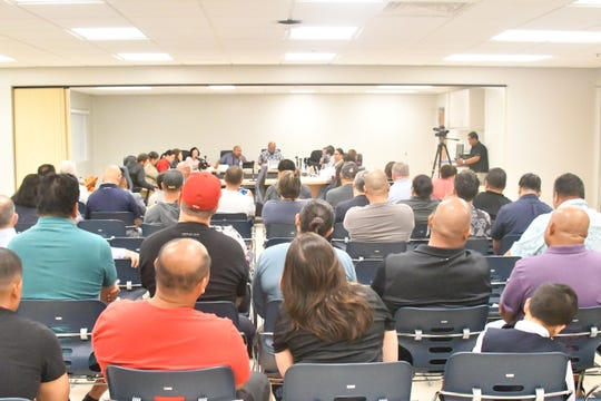 It was a full house at the Guam Department of Education gallery in Tiyan for the Guam Education Board regular meeting Dec. 6 in Tiyan.