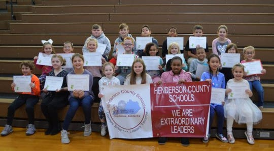 Bend Gate Elementary's Leaders of the Month for November 2019 are, top row from left, Talen Williams, Marley Staton, Raylee Stanley, Kenna Vaughn, Raelyn Gamboa, Samari De Jarnett      Rosanna Than, Lailie Wesley and Mallory Scott. Second row from left, Katelynn King, Macie Sweatt, Thea Kessler, Preston Powell , Isabella Sydnor and Amilia Knight. Third row from left, Jace Raley, Cole Thompson JaQuan Frederick, Anzerion Marigny Joseph Reese, Kinsley Sheeley  Tyan Davis and Harper Moore.