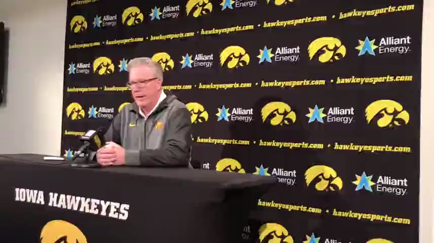 Iowa coach Fran McCaffery praises his center Luka Garza